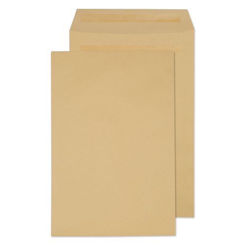 ValueX Pocket Envelope 381x254mm Recycled Self Seal Plain 90gsm Manilla (Pack 250)