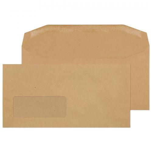 Blake Purely Everyday Manilla Window Gummed Mailer  110X220mm 80Gm2 Pack 1000 Code 13810 3P