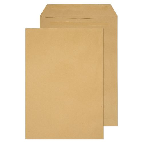 ValueX Pocket Envelope C4 Self Seal Plain 80gsm Manilla (Pack 250)