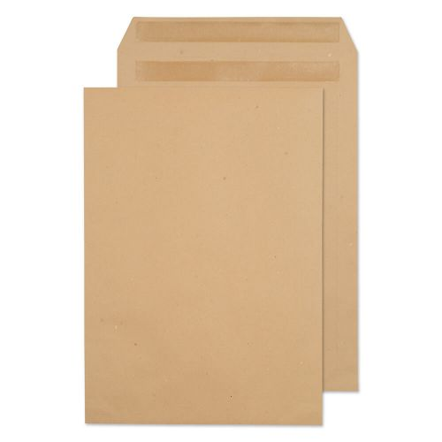 ValueX Pocket Envelope C4 Self Seal Plain 90gsm Manilla (Pack 250)