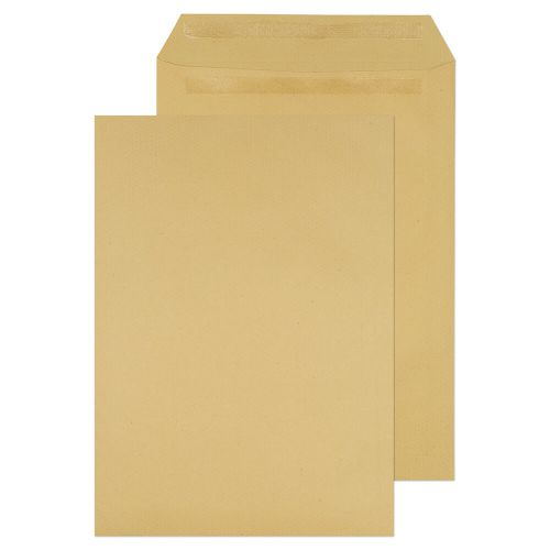 ValueX Pocket Envelope C4 Self Seal Plain 115gsm Manilla (Pack 250)