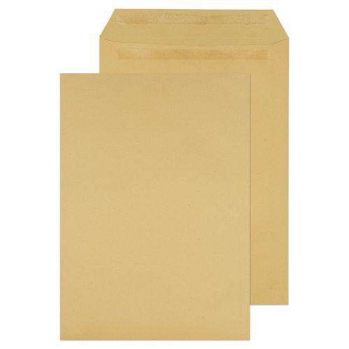 ValueX Pocket Self Seal Envelope Plain C4 324x229mm 115gsm Manilla (Pack 250)