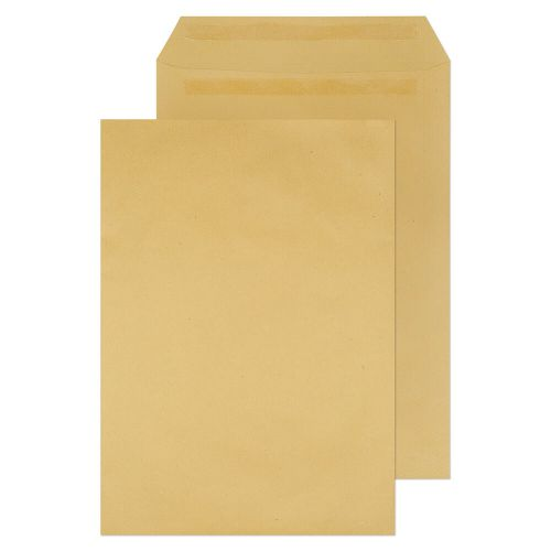 ValueX Pocket Envelope 381x254mm Recycled Self Seal Plain 115gsm Manilla (Pack 250)