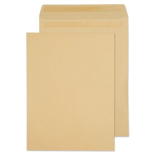 ValueX Pocket Envelope 406x305mm Recycled Self Seal Plain 115gsm Manilla (Pack 250)
