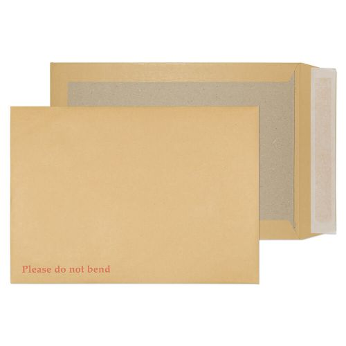 Blake Purely Packaging Manilla Peel & Seal Board Back Pocket 324x229mm 120gsm Pack 125 Code 13935