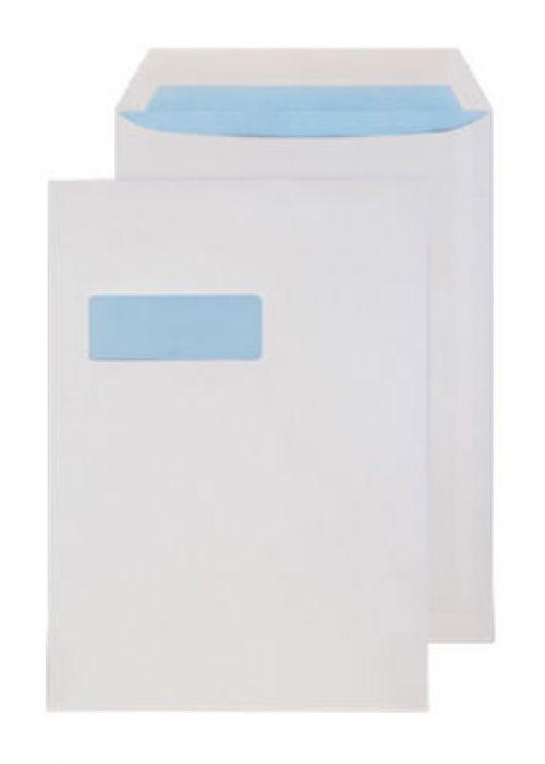 Blake Purely Everyday White Window Gummed Pocket 324X229mm 120Gm2 Pack 250 Code 14056 3P