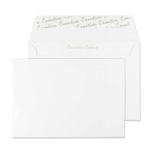 Blake Creative Colour Wallet Peel and Seal Ice White C6 114×162mm 120gsm (Pk 500) Code 150