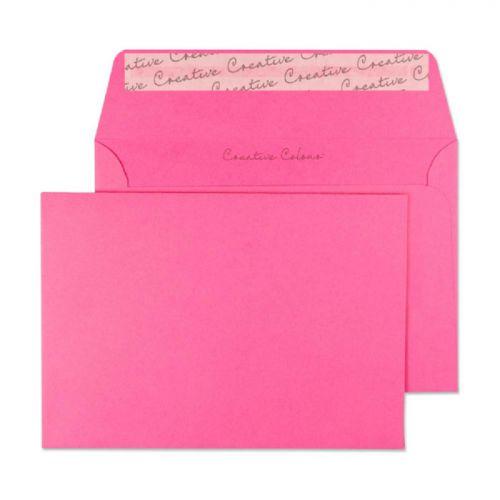 Blake Creative Colour Wallet Peel and Seal Flamingo Pink C6 114×162mm 120gsm (Pack 25) Code 15102