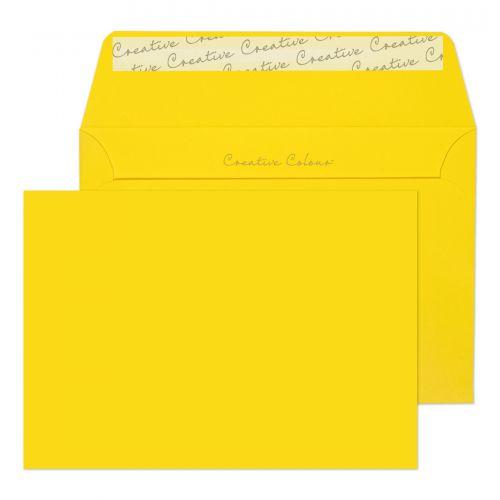 Blake Creative Colour Wallet Peel and Seal Banana Yellow C6 114×162mm 120gsm (Pack 25) Code 15103