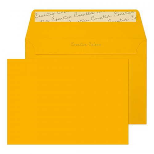 Blake Creative Colour Wallet Peel and Seal Egg Yellow C6 114×162mm 120gsm (Pack 25) Code 15104