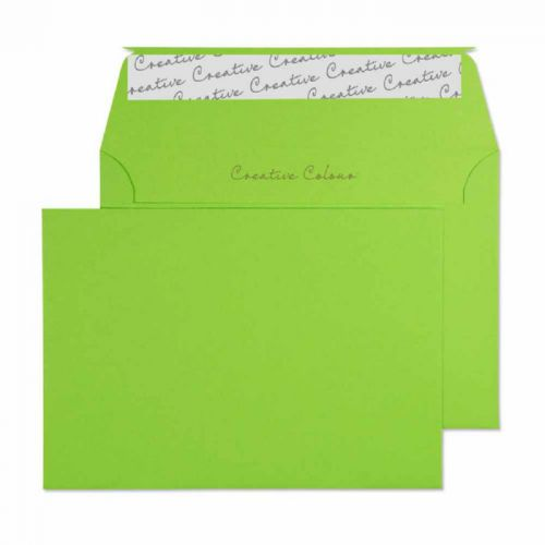 Blake Creative Colour Wallet Peel and Seal Lime Green C6 114×162mm 120gsm (Pack 25) Code 15107