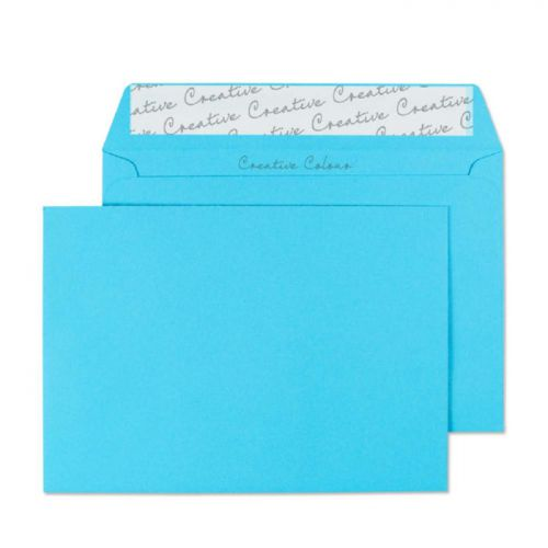 Blake Creative Colour Wallet Peel and Seal Cocktail Blue C6 114×162mm 120gsm (Pack25) Code 15109