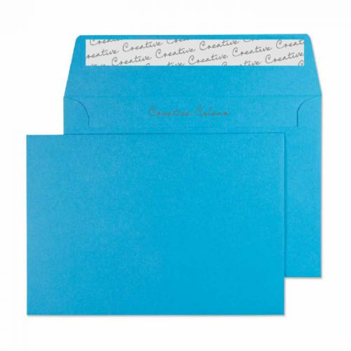 Blake Creative Colour Wallet Peel and Seal Caribbean Blue C6 114×162mm 120gsm (Pack 25) Code 15110