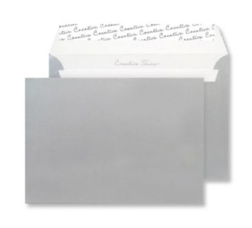 Blake Creative Shine Wallet Peel and Seal Metallic Silver 120gsm C6 114×162mm (Pk 25) Code 15112
