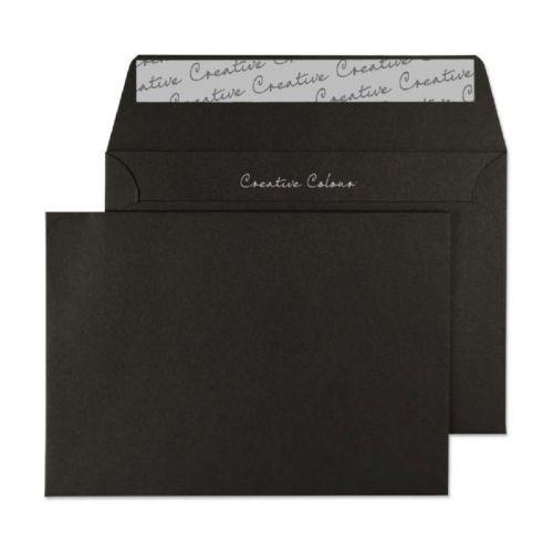 Blake Creative Colour Wallet Peel and Seal Jet Black 120gsm C6 114×162mm (Pk 25) Code 15114