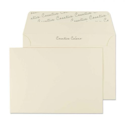 Blake Creative Colour Wallet Peel and Seal Clotted Cream 120gsm C6 114×162mm (Pk 25) Code 15153