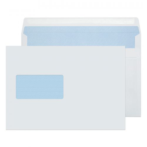 Purely Everyday White Wndw Self Seal Wallet C5 90gsm PK500