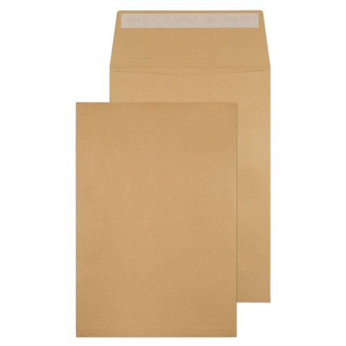 ValueX Pocket Gusset Envelope C4 Peel and Seal Plain 25mm Gusset 130gsm Manilla (Pack 125)