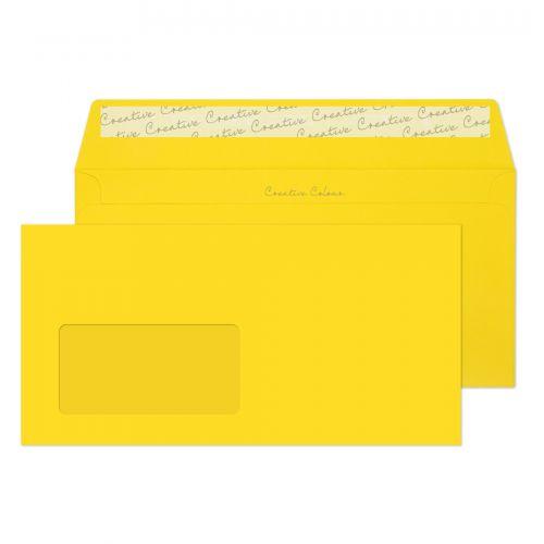 Blake Creative Colour Wallet Peel and Seal Window Banana Yellow DL+ 114×229 120gsm (Pk500) Code 203W