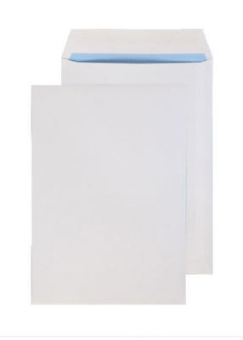 Blake Purely Everyday White Gummed Pocket 254X178m m 100Gm2 Pack 500 Code 2086 3P