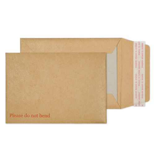 Blake Purely Packaging Manilla Peel & Seal Board Back Pocket 162X114mm 120Gm2 Pack 250 Code 2112 3P
