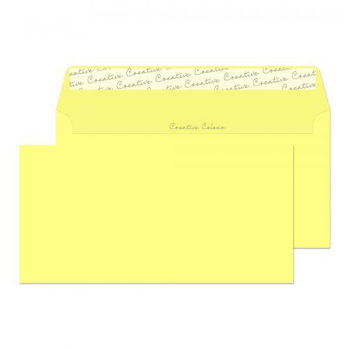 Blake Creative Colour Lemon Yellow Peel & Seal Wallet 114X229mm 120Gm2 Pack 500 Code 216 3P