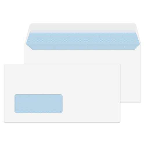 Value Wallet P/S Window DL 110x220mm 100gsm White PK500