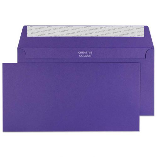 Creative Colour Wallet P&S Blackcurrant 120gsm DL+ 114x229mm Ref 247 [Pack 500] *10 Day Leadtime*
