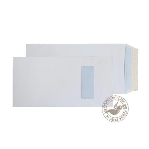 Blake Purely Everyday White Window Peel & Seal Pocket 305X152mm 100Gm2 Pack 250 Code 2501 3P