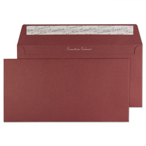 Blake Creative Colour Bordeaux Peel & Seal Wallet 114X229mm 120Gm2 Pack 25 Code 25222 3P