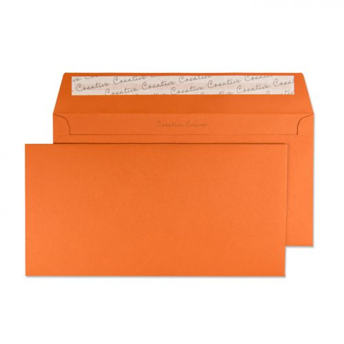 Blake Creative Colour Marmalade Orange Peel & Seal  Wallet 114X229mm 120Gm2 Pack 25 Code 25228 3P