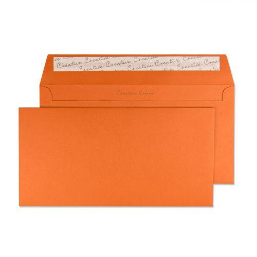 Blake Creative Colour Marmalade Orange Peel & Seal Wallet 114X229mm 120Gm2 Pack 25 Code 25228 3P