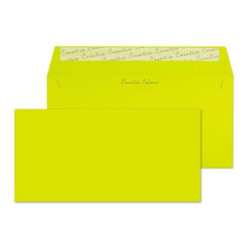 Blake Creative Colour Acid Green Peel & Seal Walle t 114X229mm 120Gm2 Pack 25 Code 25241 3P
