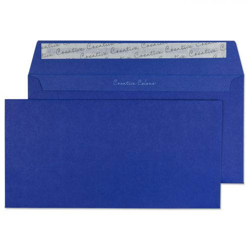 Blake Creative Colour Victory Blue Peel & Seal Wal let 114X229mm 120Gm2 Pack 25 Code 25243 3P