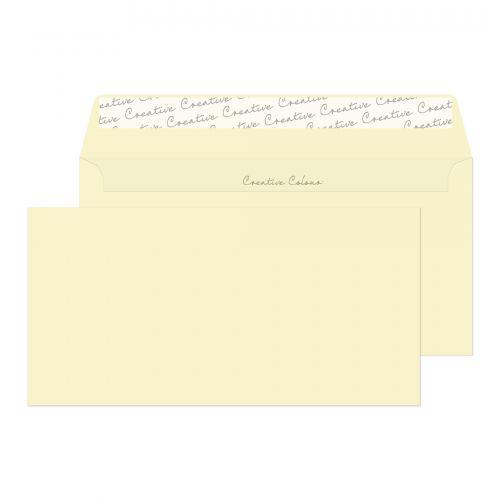Blake Creative Colour Soft Ivory Peel & Seal Wallet 114X229mm 120Gm2 Pack 25 Code 25252 3P