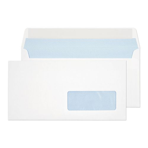 Everyday White Window Peel & Seal Wallet DL 110x220 100gsm PK500