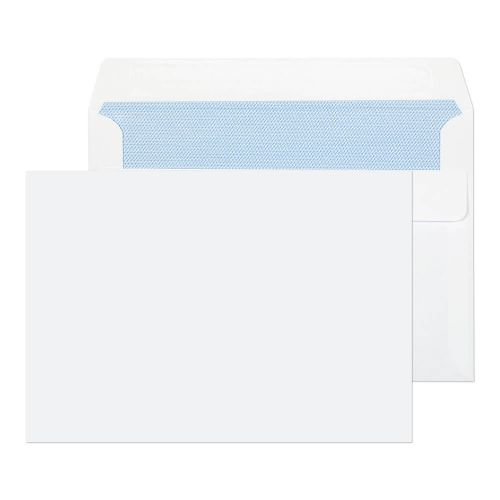 ValueX Wallet Envelope C6 Self Seal Plain 90gsm White (Pack 1000)