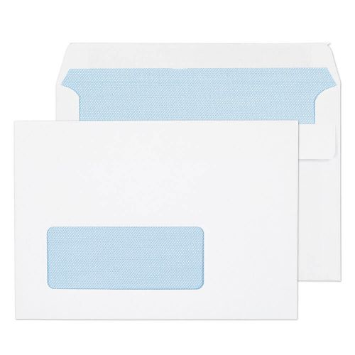 Blake Purely Everyday White Window Self Seal Wallet 114x162mm 90gsm Pack 1000 Code 2603W