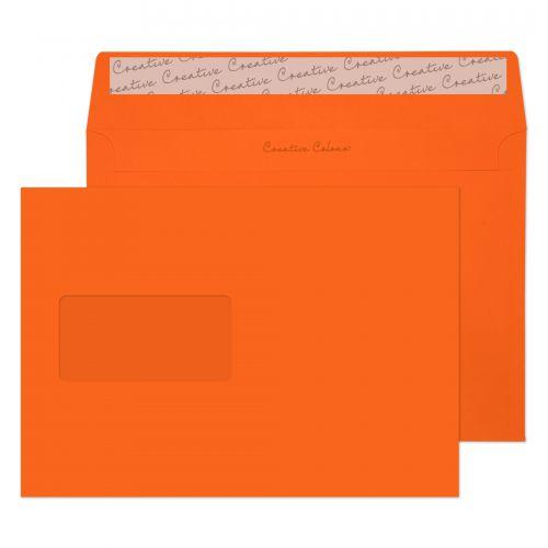 Blake Creative Colour Pumpkin Orange Peel and Seal Wallet Window C5 120gsm (Pack 500) Code 305W