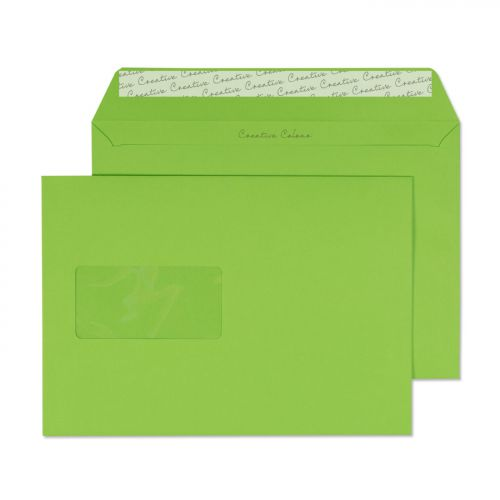 Blake Creative Colour Lime Green Peel and Seal Wallet Window C5 162x229mm 120gsm (Pk 500) Code 307W