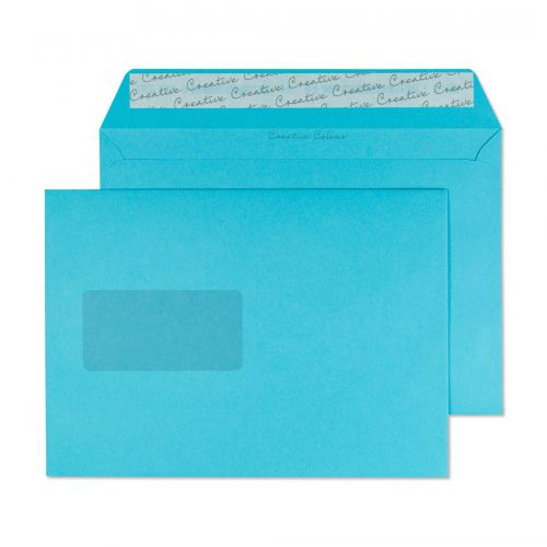 Blake Creative Colour Cocktail Blue Peel and Seal Wallet Window C5 162x229 120gsm (Pk 500) Code 309W