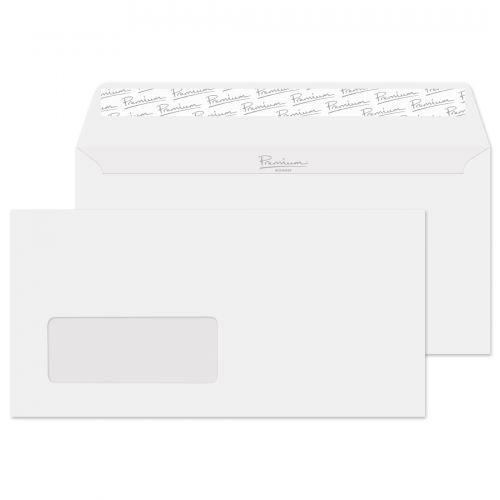 Blake Premium Business Ice White Wove Window Peel & Seal Wallet 110X220mm 120G Pk50 Code 31265 3P