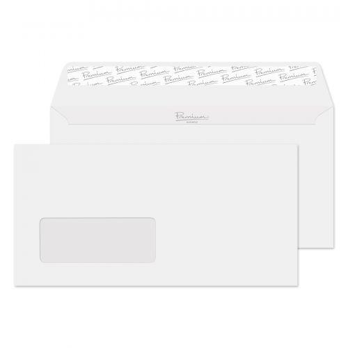 Blake Premium Business Ice White Wove Window Peel & Seal Wallet 110X220mm 120G Pk500 Code 31884 3P