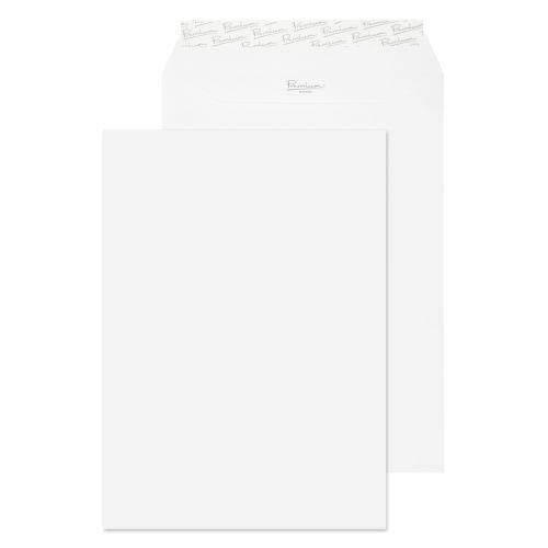 Essential C4 Ice White Peel & Seal Pocket Envelopes 324x229mm 120gsm (Pack 250) Code 31891