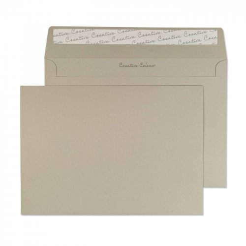 Creative Colour French Grey Peel and Seal Wallet C5 162x229mm Ref 319 [Pack 500] *10 Day Leadtime*