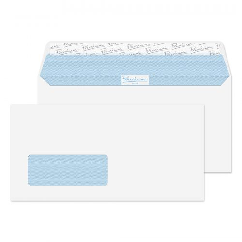 Blake Premium Office Envelopes Wallet P&S Window 120gsm DL Ultra White Wove Ref 32216 [Pack 500]