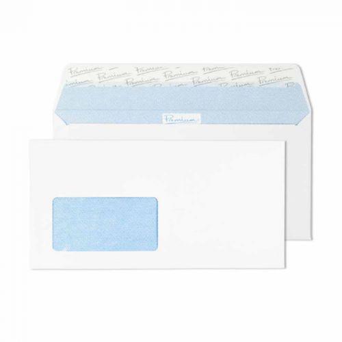 Blake Premium Office Ultra White Wove Window Peel & Seal Wallet 110X220mm 120G Pk500 Code 32226De 3P
