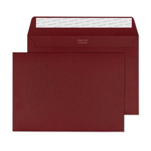 Blake Creative Colour Bordeaux Peel & Seal Wallet 162X229mm 120Gm2 Pack 500 Code 322 3P