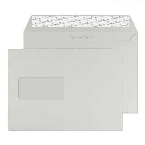 Blake Creative Colour Wallet Peel and Seal Window Storm Grey C5 162×229mm 120gsm (Pk 500) Code 325W