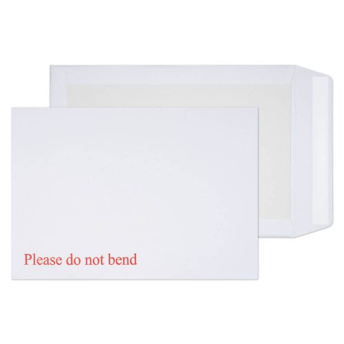Blake Purely Packaging White Peel & Seal Board Back Pocket 324X229mm 120Gm2 Pack 125 Code 3266 3P